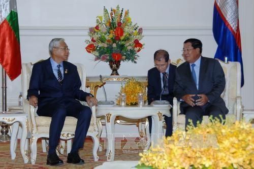 Le Cambodge et le Myanmar s'engagent a renforcer leur cooperation hinh anh 1