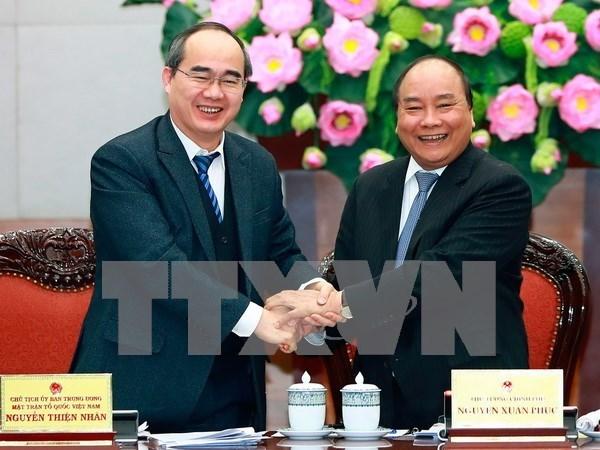 Coordination etroite entre le gouvernement et le Front de la Patrie du Vietnam hinh anh 1