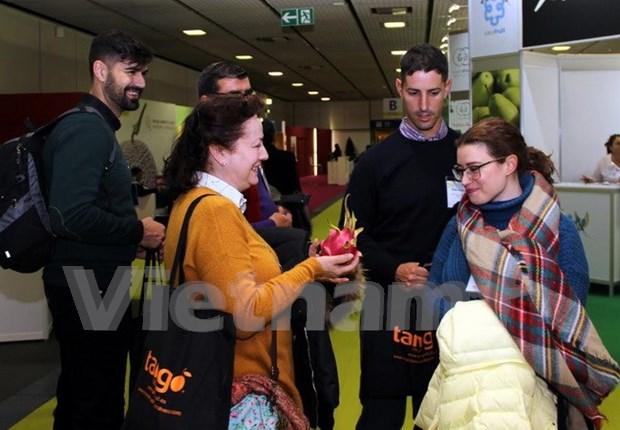 Des fruits du dragon du Vietnam presentes au Fruit Logistica 2017 a Berlin hinh anh 2