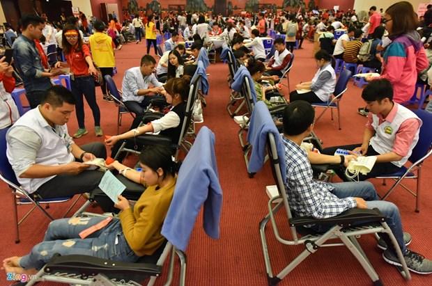 Fete du printemps rouge 2017 : du sang pour sauver des vies hinh anh 1