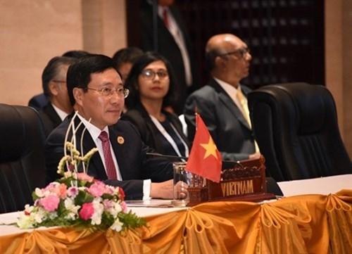 Le Vietnam a la reunion restreinte des ministres des Affaires etrangeres de l'ASEAN aux Philippines hinh anh 1