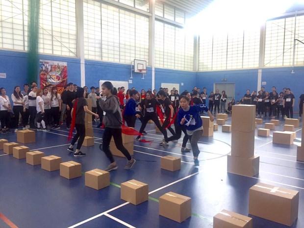 Fete sportive des etudiants vietnamiens au Royaume-Uni hinh anh 3