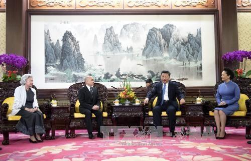 Entrevue entre le president chinois et le roi cambodgien hinh anh 1