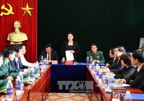 La presidente de l'AN Nguyen Thi Kim Ngan en tournee a Dien Bien hinh anh 1