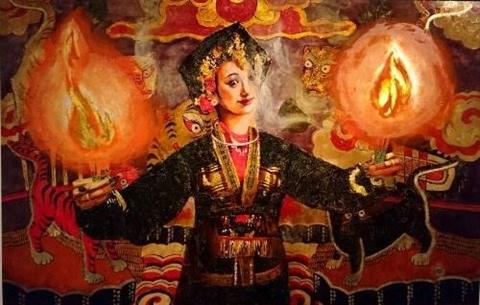 Le culte des Deesses-Meres en laques poncees hinh anh 1