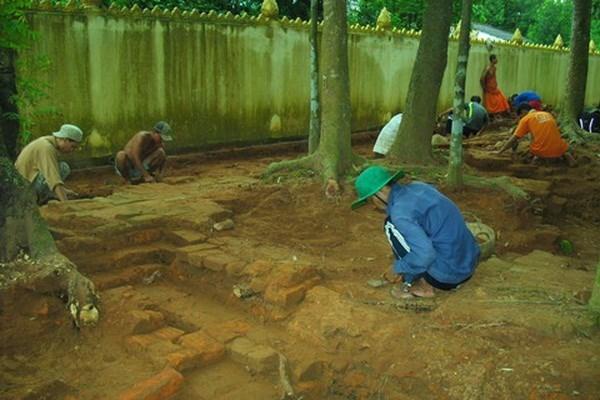 Les fouilles confirment la valeur scientifique de l'ancienne pagode de Tra Vinh hinh anh 1