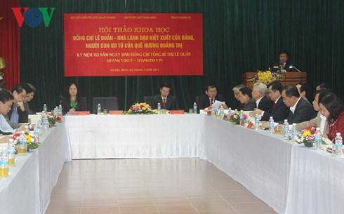 Seminaire scientifique sur l'ancien Secretaire general du PCV, Le Duan hinh anh 1
