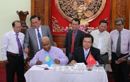 Les Palaos veulent cooperer dans le secteur des produits aquatiques de Tien Giang hinh anh 1
