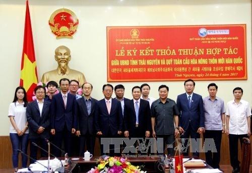 Thai Nguyen signe un accord de cooperation avec le fonds sud-coreen Saemaul hinh anh 1