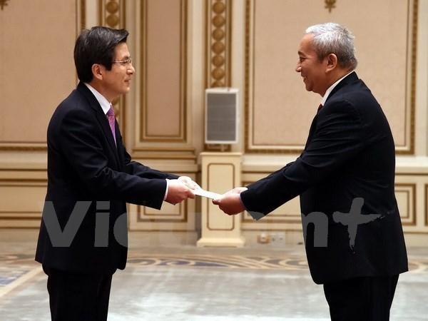 Le president sud-coreen p. i estime les relations de cooperation avec le Vietnam hinh anh 1