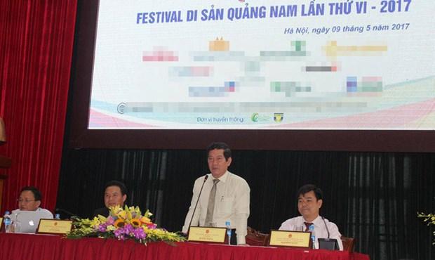 De nombreuses nouvelles activites au Festival des patrimoines de Quang Nam 2017 hinh anh 1