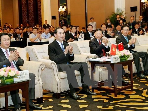 Le president Tran Dai Quang participe au Forum