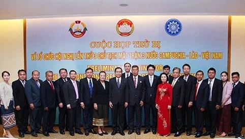 Vietnam-Laos-Cambodge : renforcer des relations diplomatiques entre les Fronts de la Patrie hinh anh 1