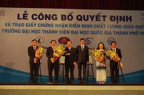 Des certificats d'excellence pour les facultes de l'Universite nationale de Ho Chi Minh-Ville hinh anh 1