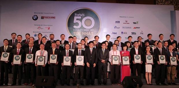 Bourse : Forbes Vietnam publie les 50 meilleures societes cotees en 2017 hinh anh 1