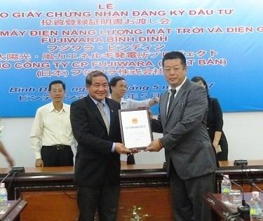 Binh Dinh : remise de la licence pour un projet eolien et photovoltaique hinh anh 1