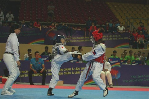 Debut des championnats asiatiques de Taekwondo cadets a Ho Chi Minh-Ville hinh anh 1