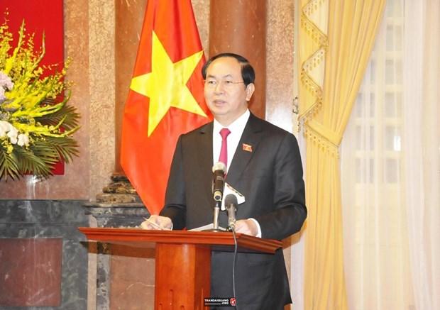 Interview au seuil de la visite officielle du president Tran Dai Quang en Bielorussie et en Russie hinh anh 1