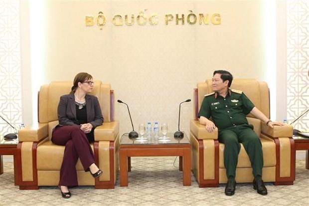 Le ministre vietnamien de la Defense recoit l'ambassadrice israelienne hinh anh 1