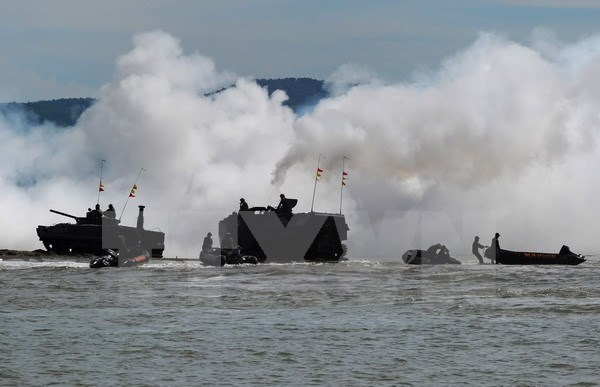 L'Indonesie et les Etats-Unis effectuent une manœuvre commune hinh anh 1