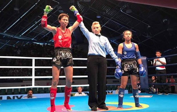 World Games: une vietnamienne medaillee d'or en muay-thai hinh anh 1