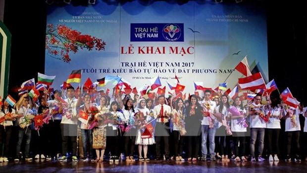 Ouverture de la colonie de vacances d'ete des jeunes Viet kieu a Ho Chi Minh-Ville hinh anh 1