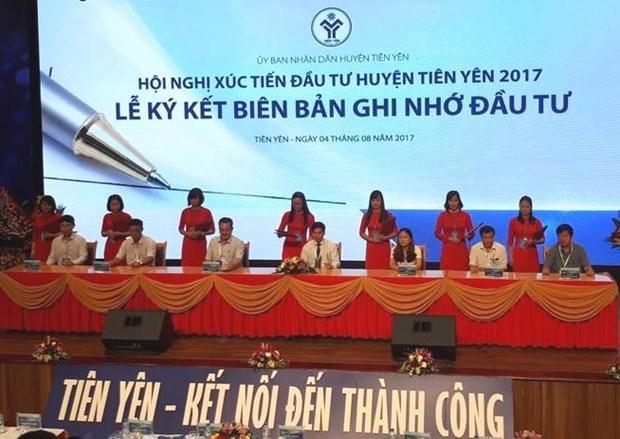 Quang Ninh: pres de 1.000 milliards de dongs injectes dans le district de Tien Yen hinh anh 1
