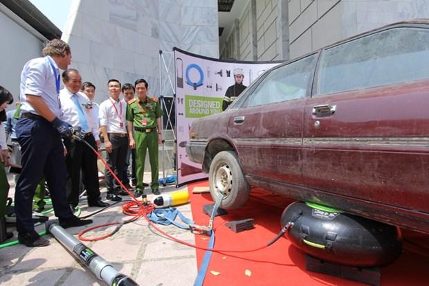 Une expo sur la prevention et la lutte contre les incendies a Ho Chi Minh-Ville hinh anh 1