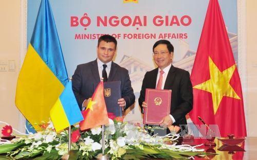 Vietnam-Ukraine : entretien entre les deux chefs de la diplomatie hinh anh 1