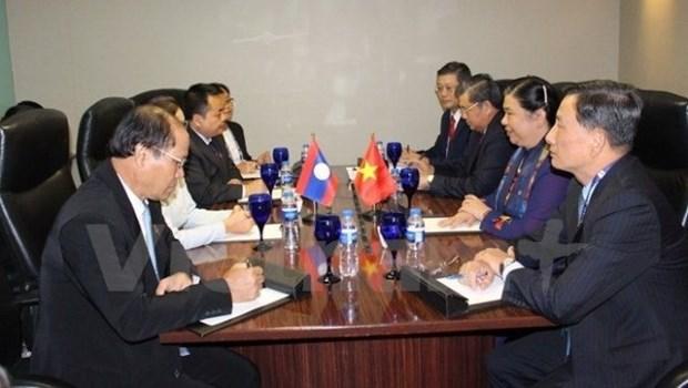 AIPA-38 : Tong Thi Phong a la rencontre des dirigeants de l'AN des pays hinh anh 1