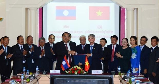 Dong Thap et Champassak (Laos) promeuvent leur cooperation multisectorielle hinh anh 1