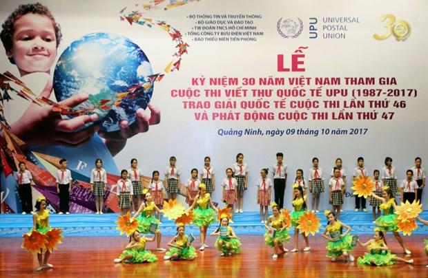 Le Vietnam celebre sa 30e participation au concours de l'UPU hinh anh 1