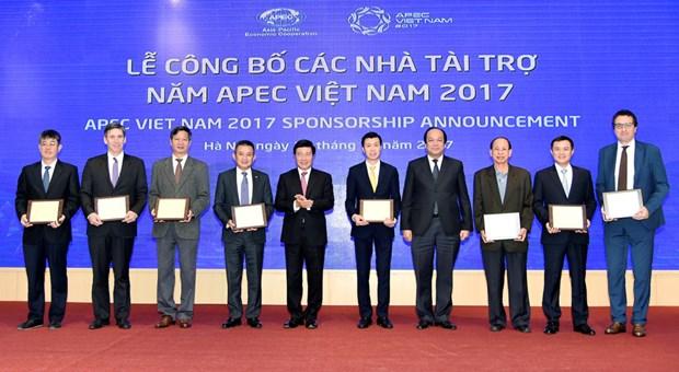 Presentation des sponsors de l'Annee de l'APEC 2017 hinh anh 1