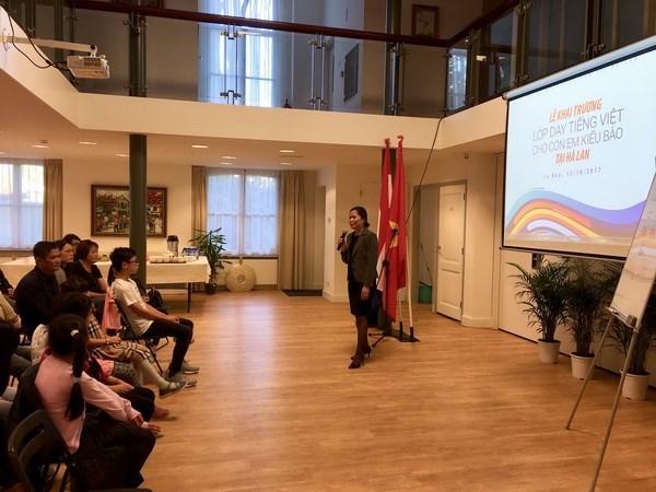 Ouverture de la premiere classe de langue vietnamienne aux Pays-Bas hinh anh 1