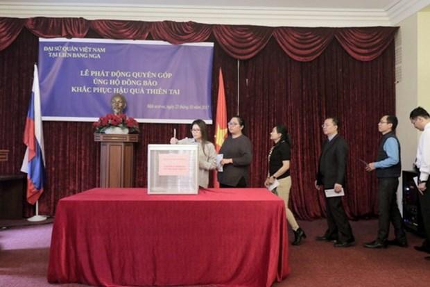 La communaute vietnamienne en Russie aux cotes des sinistres des crues hinh anh 1