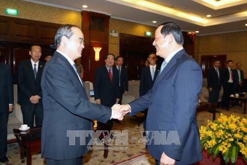 HCM-Ville s'efforce d'impulser sa cooperation avec les localites laotiennes hinh anh 1