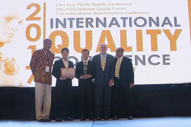 Quatre entreprises vietnamiennes primees aux Prix de la qualite de l'Asie-Pacifique 2014 hinh anh 1