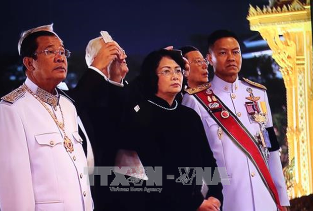 La vice-presidente du Vietnam assiste a la cremation de l'ancien roi de Thailande hinh anh 1
