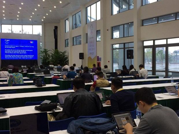 APEC 2017 : des journalistes etrangers apprecient le Centre international de presse hinh anh 1