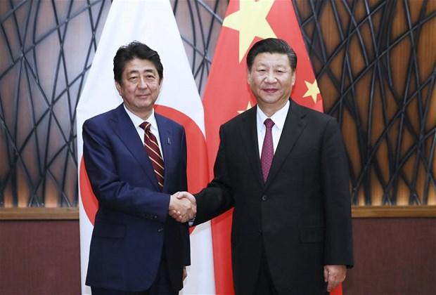 APEC 2017: Xi Jinping rencontre les dirigeants des Philippines, du Japon et de la R. de Coree hinh anh 3