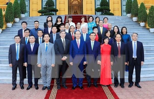 Tran Dai Quang rencontre des sponsors de la Semaine de l'APEC 2017 hinh anh 1