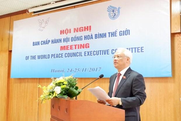 Hanoi accueille une reunion du Conseil mondial de la paix hinh anh 1