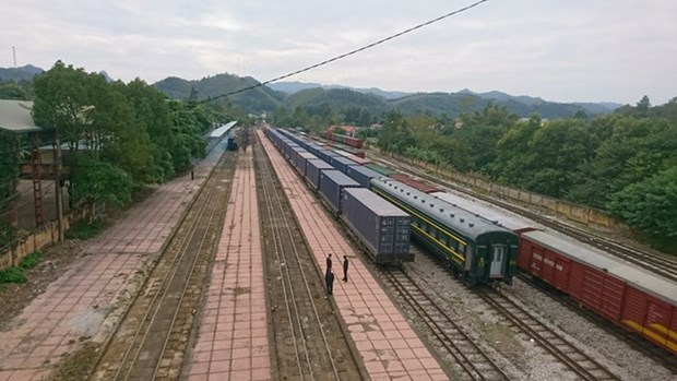 Un train transportant des marchandises de Jiangxi est arrive a Hanoi hinh anh 1