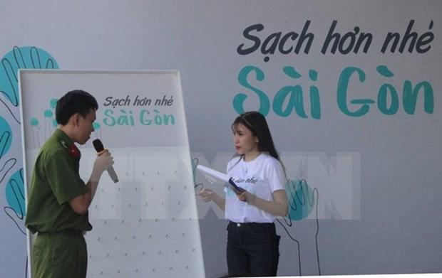 Ho Chi Minh-Ville lance un programme de communication sur l'hygiene environnementale hinh anh 1