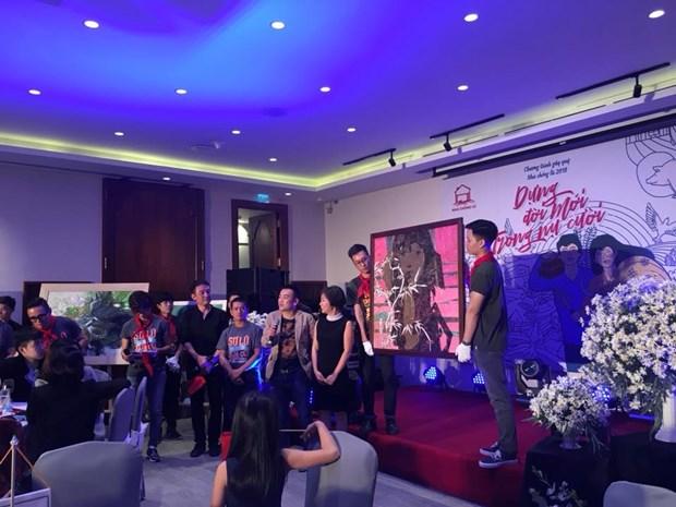 Hanoi : Soiree de collecte de fonds pour le projet « nha chong lu » hinh anh 2