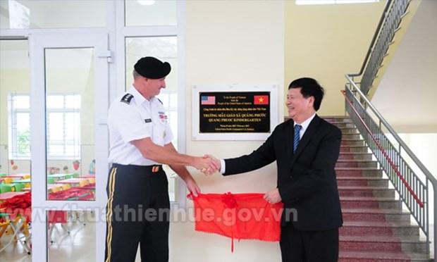 Le commandement du Pacifique des Etats-Unis finance la construction d'une ecole maternelle a Hue hinh anh 1