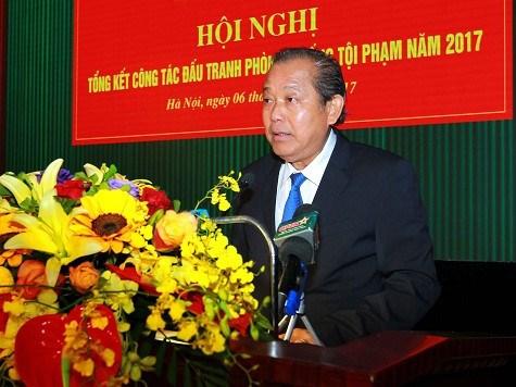 Conference-bilan sur la lutte contre la criminalite de 2017 hinh anh 1