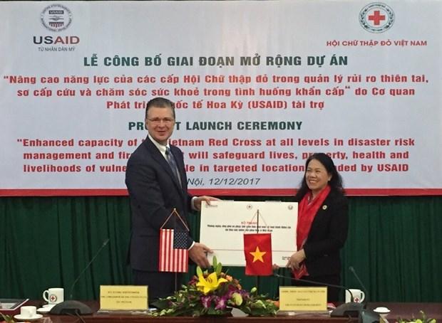 USAID aide la Croix-Rouge a ameliorer sa capacite de la gestion des catasrophes naturelles hinh anh 1