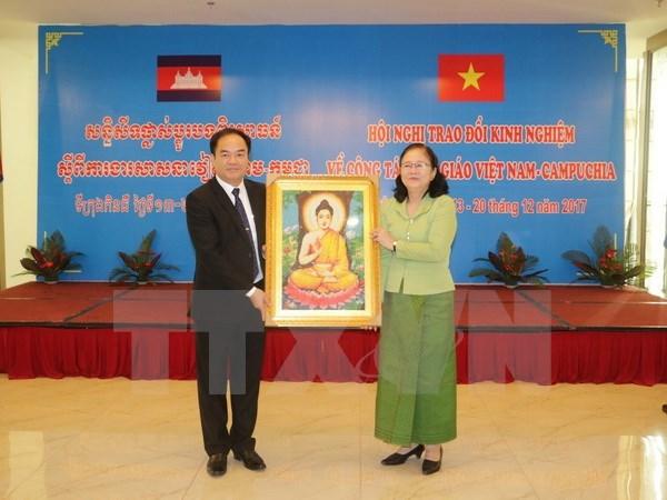 Une delegation du ministere cambodgien des Cultes et des Religions a Can Tho hinh anh 1