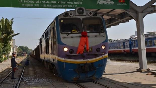 Lancement d'un service de train de fret entre Hai Phong et Kaiyuan (Chine) hinh anh 1